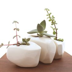 boulder planter | set of 3