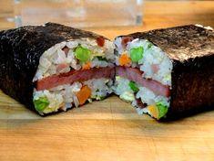Fried Rice Spam Musubi - A twist on a Hawaii Classic!