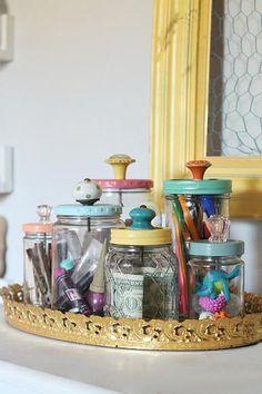 DecoArt Blog Vintage Desk Organization #organization #DIY