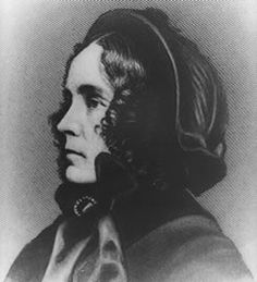 Jane Pierce, American First Lady married to President Franklin Pierce.  A painfully shy woman, Mrs. Pierce did not enjoy parties and balls nor politics. After her husband's presidential victory, she looked forward to going to the White House when tragedy struck. Her only living child, Benjamin, died in front of her eyes in a train accident.  She spent the White House years receiving very few visitors and writing letters to her deceased son Benjamin.