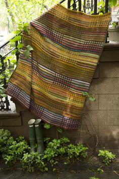 Slip Stitch Afghan knit free pattern Lion Brand (easy+)