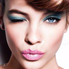 simpli cara, blue eye makeup, pink lips, wallpapers, verano