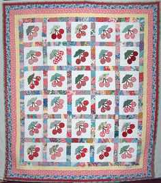 Finished Cherry Quilt by 'Playingwithbrushes', via Flickr