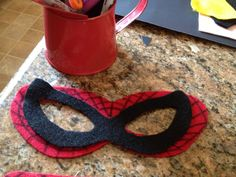 DIY superheroe felp mask! Stocking Stuffer