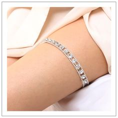 Christy II  crystal chain special occasion garter by woomipyo, $40.00