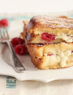 white chocolate and raspberry french toast.