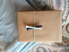 Gift wrap for a golfer.