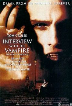 Anne Rice's best-selling romantic horror tale about the origins of a centuries-old vampire inspired this popular, atmospheric chiller. One of director Neil Jordan's major Hollywood productions, the film stays close to its source material, retaining the frame of a young reporter (Christian Slater) interviewing a man who claims to be a vampire. Movie Posters, Vampires, Interview, Ettom Cruis, Film Posters, Scary Movie, Anne Rice, Favorite Movie, Favorite Film