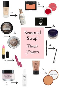 Seasonal Swap: Switching out heavy winter #beauty products for lighter summer ones