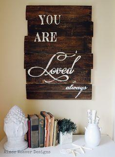 Beautiful wood signs