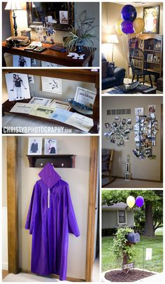 parti decor, graduation parties decorations, graduation party decoration, graduation gown, grad parties, graduation party display, graduat idea, graduation party photo display, graduat parti