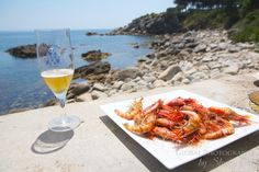 The perfect lunch setting in Cala S'Alguer