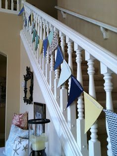 Stairs Banner decoration for baby shower