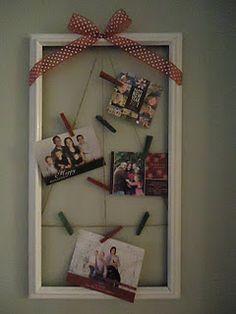 Christmas card holder!