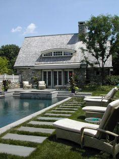 portland, small backyards, pool houses, walkway, pool designs, hot tubs, decking, backyard pools, stepping stones