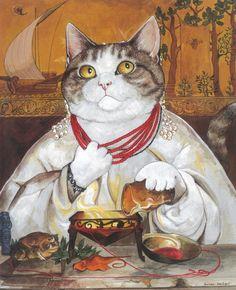 Susan Herbert Cat Art - Medea