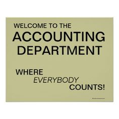 Accounting Department Signs