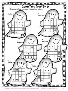 Counting puzzle for Halloween from Halloween Math Games, Puzzles and Brain Teasers $