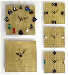 DIY LEGO Clock - Customizable, Quick, Easy diy lego, lego presents, lego clock diy