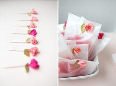 mini crepe paper flowers diy
