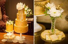 Tartas y galletas para una elegante fiesta años 20 / Cake and cookies for an elegant 20s party