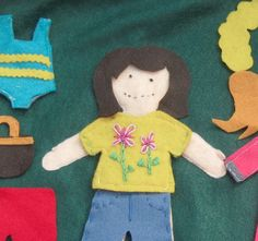 I think this would be cute for Ella...Felt Dress Up Doll Play Mat - quiet and portable imaginative play