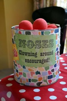 Circus Theme Party Ideas (6) - We can all take a picture at the end with our noses