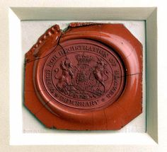 This wax seal of King George III shows his coat of arms and the words 'OFFICE FOR REGISTRATION OF SLAVES DEMERARY'. It shows the extent to which slavery was a state-sanctioned trade  Fortunately later the English were the first to abolish the slave trade
