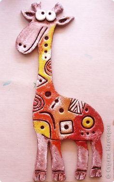 Поделки из глины жираф 13