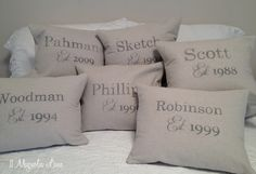 Anniversary pillows
