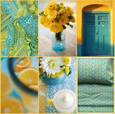 yellow/ aqua bathrooms   Colour Inspiration – Yellow and Turquoise……….
