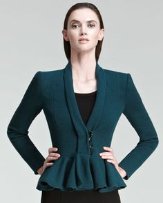 Peplum Jacket by Armani Collezioni at Neiman Marcus. #NMFallTrends