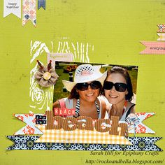 Reach for the Beach Layout  by Designer Sarah Hill