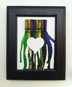 Use stencil with crayon art