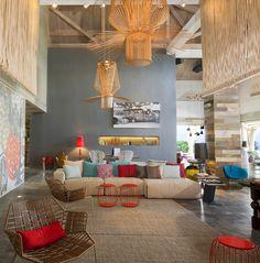 hotel interiors, contemporary interior design, color schemes, patricia urquiola, contemporary interiors, light fixtures, high ceilings, luxury hotels, island