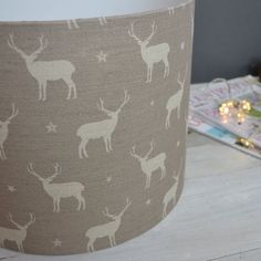 Stag All Star Handmade Linen Lampshade