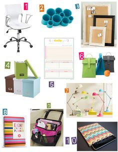 Some great things to use for organizing.