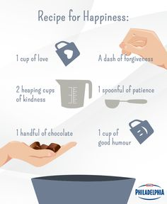 Our recipe for happiness combines love, laughter and a little chocolate!