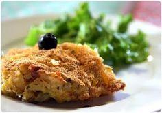 'Bacalhau com presunto no forno' - cod in the oven with ham!  @Elvira's Bistrot