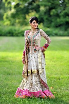 Beautiful Indian Brides pakistani dresses, wedding dressses, indian weddings, color, bride makeup, indian dresses, outfit, indian wedding dresses, indian cloth