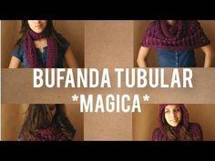 Como hacer bufanda Magica, tubular, multiusos en telar circular - YouTube
