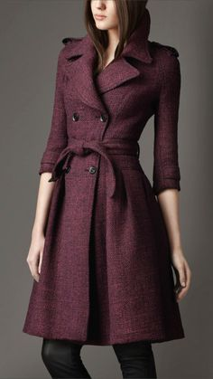 Stylish Burberry Tweed Coat