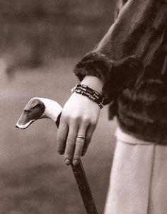 Walking stick, Hermes, 1920's.