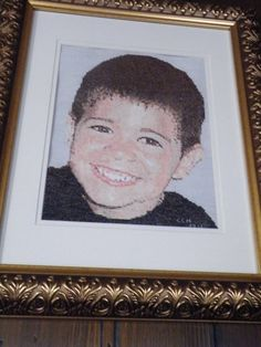counted cross stitch -  Zamiel when he was 4 years old - 2010