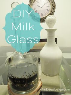 Make your own milk glass with this super easy tutorial. #diy #milkglass #easycraft #homedecor