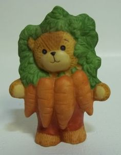 Enesco Lucy & Me Teddy Bear Vegetable Carrots Lucy Rigg