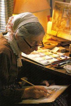 Tasha Tudor... http://gumbo-lily.blogspot.jp/2010/08/tasha-tudor-day.html