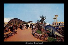 Sinclair Dinoland and the New York Pavilion, 1964 New York World's Fair, Flushing Meadows Park