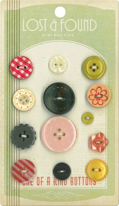 Lost & Found Buttons  Love by LillyBellesPaperie on Etsy, $3.50