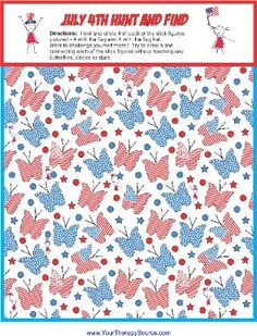July 4th Hunt and Find Printable Freebie